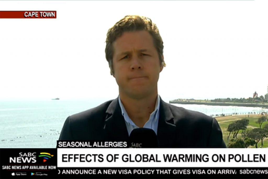 Pollen deposits global warming